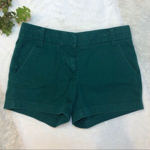{J. Crew} Chino Teal Green Shorts